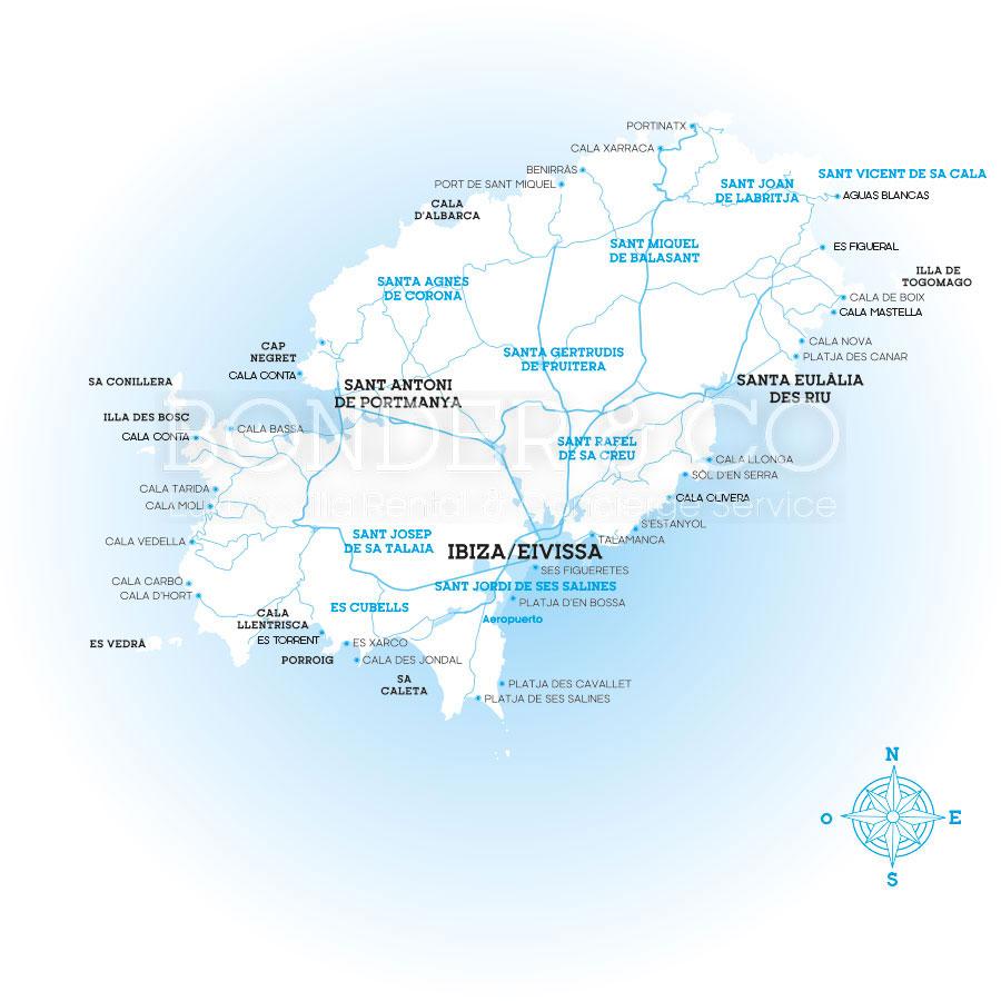 beach-map-ibiza-Bonderco-2 - Casa Pulpo Ibiza